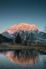 Zugspitze Abendsonne