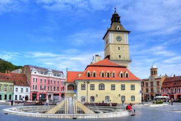 Council Square in Brasov city, Piata sfatului, Romania