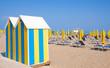 canvas print picture - Strand an der Italienischen Adria in Lido di Jesolo