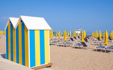 Strand an der Italienischen Adria in Lido di Jesolo
