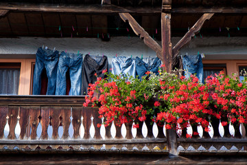 Jeans am Balkon