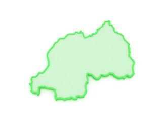 Map of Rwanda.