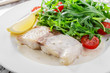 fish fillet in white sauce  Pangasius