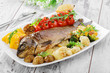 baked fish with vegetables - 65603445