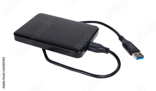 Leinwanddruck Bild USB Festplatte