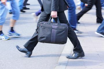 Geschäftsmann in Eile