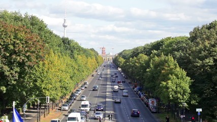 Day view of the central district of Berlin from an observation