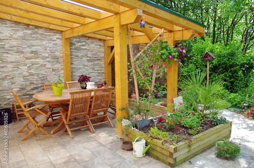 Foto op Canvas Tuin terrasse de maison