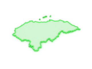 Map of Honduras.