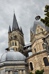 The Aachener Dom or the Imperial Cathedral, Aachen, Germany