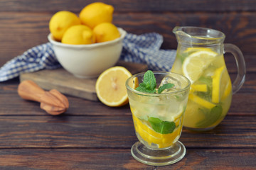 Lemonade with fresh lemon