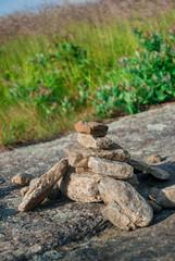 Rock Cairn Along a Popular Footpath
