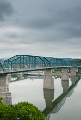 Train Bridge Across River