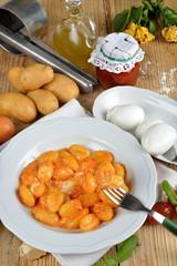 gnocchi alla sorrentina pomodoro e mozzarella