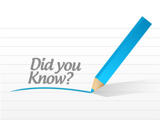 did you know question illustration design