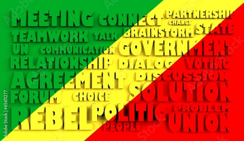 poster of congo flag relief text in conformity with political situation