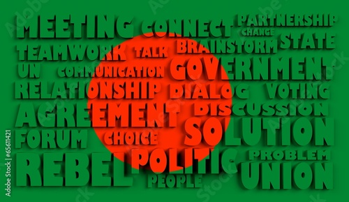 poster of bangladesh flag relief text conformity with political situation