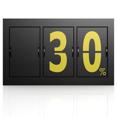 Airport display board 30 percent