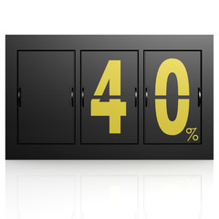 Airport display board 40 percent