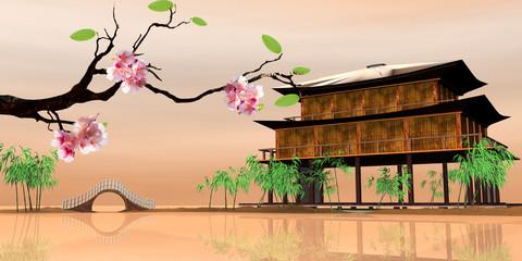 Beautiful sakura season for adv or others purpose use