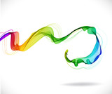 Abstract colorful background with wave - 65611885