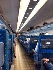 Passengers on Shinkansen