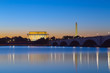 Washington, DC - Monuments reflecting at twilight