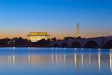 Washington, DC - Monuments reflecting at twilight