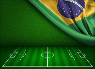 Soccer world cup in Brazil concept