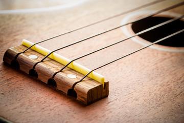 Ukulele fretboard, part of ukulele hawaiian guitar