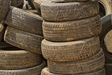 Very old car tires