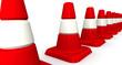 Оградительные (сигнальные) дорожные конусы