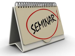 Семинар (seminar). Надпись на перекидном календаре