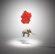 Elephant with balloons - 65614460
