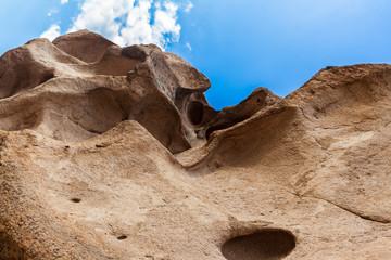 scenic crack cavity in the rocks