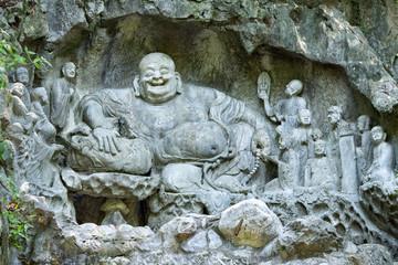 Budai Buddha im Lingyin Tempel in Hangzhou