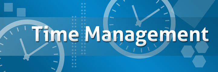 Time Management Business Theme Background