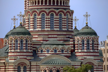 Detail of Cathedral of the Annunciation in Kharkov.