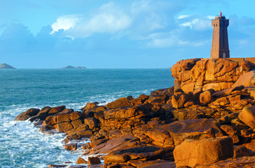 Ploumanach lighthouse (Perros-Guirec, Brittany, France)