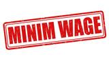 Minim wage stamp poster
