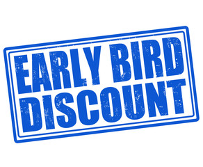 Early bird discount stamp