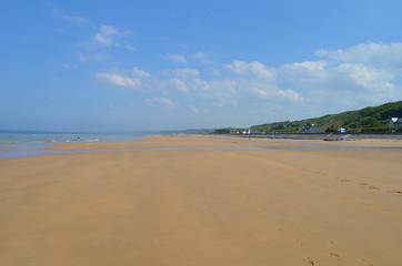 Plage d'Omaha beach de nos jours (Normandie 2014)