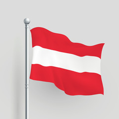 3d vector Austria flag