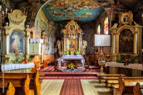 Zdjęcia na płótnie, fototapety, obrazy : Church interior of Sts. John the Apostle in Zakopane, Poland.