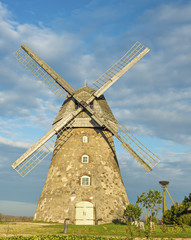 Old windmill in village of Araishi, Latvia, Europe