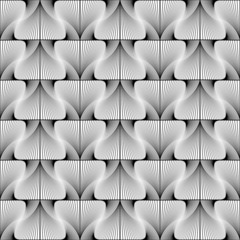 Design seamless swirl movement stripy geometric pattern