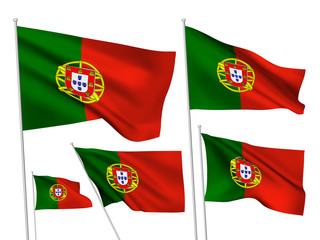 Portugal vector flags