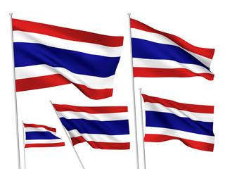 Thailand vector flags