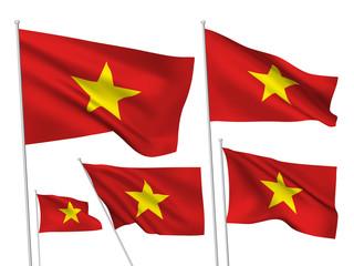 Vietnam vector flags