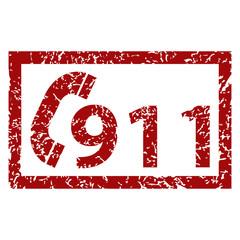 911 emergency grunge icon